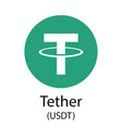 tether cryptocurrency symbol vector image vector image