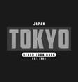 tokyo japan design for t-shirt japanese print vector image vector image