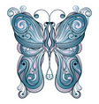 vector blue butterfly vector image