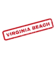 Virginia Beach Rubber Stamp vector image vector image