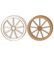 wagon wheel vector image vector image