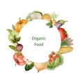 Watercolor painted organic vegetables vector image vector image