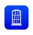 white narrow window icon digital blue vector image vector image