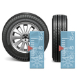 winter tire vector image vector image