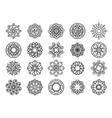 Ornamental floral circular mehndi set vector image