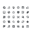 30 Social media network icons vector image
