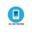 5g design logo concept network logo vector image