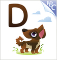 animal alphabet for kids d for dog vector image