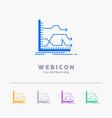 arrows forward graph market prediction 5 color vector image