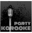 background with microphone for karaoke party vector image vector image
