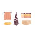 bath towels set clean towels vector image vector image