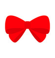 big red ribbon christmas bow icon decoration vector image vector image