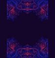 bright decorative abstract psychedelic frame vector image