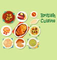 british cuisine healthy food icon for lunch design vector image vector image