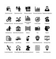 business and finance glyph icons set 4 vector image vector image