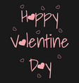 card with text for valentines day and small vector image vector image