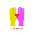 Caring hand logo vector image vector image