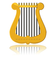 Cartoon harp vector image
