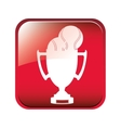 Championship trophy cup vector image vector image