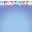 Christmas Holiday Lights on Blue Background vector image vector image