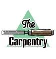 Color vintage Carpenter emblem vector image vector image