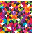 Colorful abstract pattern with geometric shapes vector image vector image