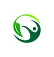 complete wellness logo design template vector image