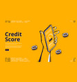 credit score isometric landing page bank rating vector image vector image