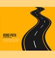 curve winding roadway background design vector image vector image