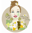 Cute Woman with facial mask vector image vector image