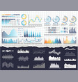 data on infographics and flowcharts templates vector image vector image