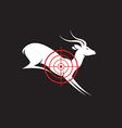 Deer target vector image vector image