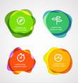 Different watercolor stamps vector image