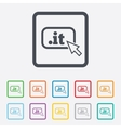 Domain IT sign icon Top-level internet domain vector image vector image