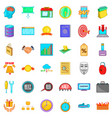 exchange icons set cartoon style vector image vector image