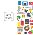 flat travel elements background vector image vector image