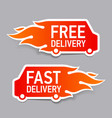 Free and fast delivery labels vector image vector image