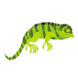 green chameleon icon cartoon style vector image vector image