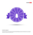 halloween spider icon - purple ribbon banner vector image