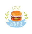Hamburger on white background vector image vector image