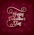 happy valentines day typography on hearts vector image
