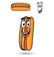 Hotdog with a happy goofy smile vector image vector image