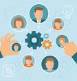 Human resource management vector image vector image