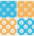 Medicine pattern set colored vector image