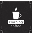 Morning Coffee label vector image vector image