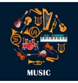 Musical instruments and sound equipment vector image vector image