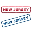 New Jersey Rubber Stamps vector image