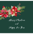 New Year and Christmas Card - Vintage Poinsettia vector image vector image