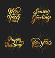 new year happy new year 2018 hand lettering vector image vector image
