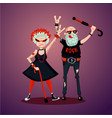 old friedns senior adult couple rock fans humor vector image vector image